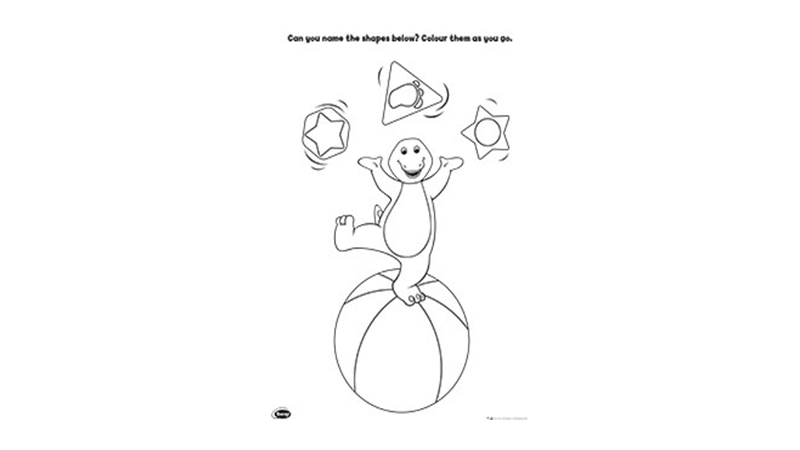 Barney Shapes Activity 1