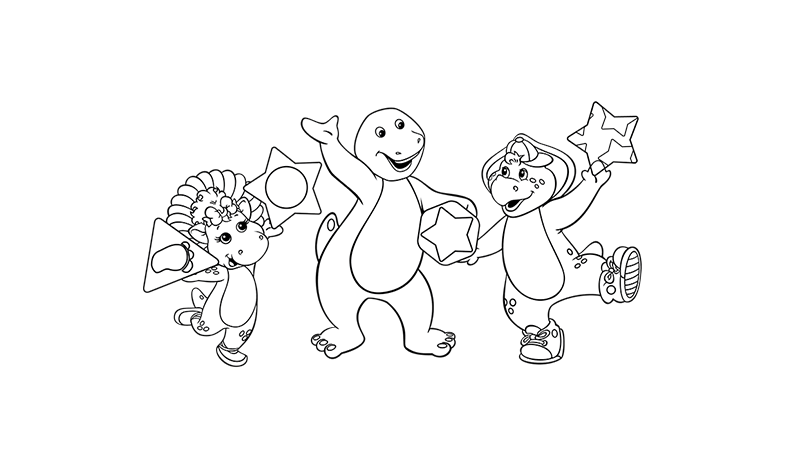 Barney Colouring Page 3