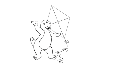 Barney Colouring Page 2