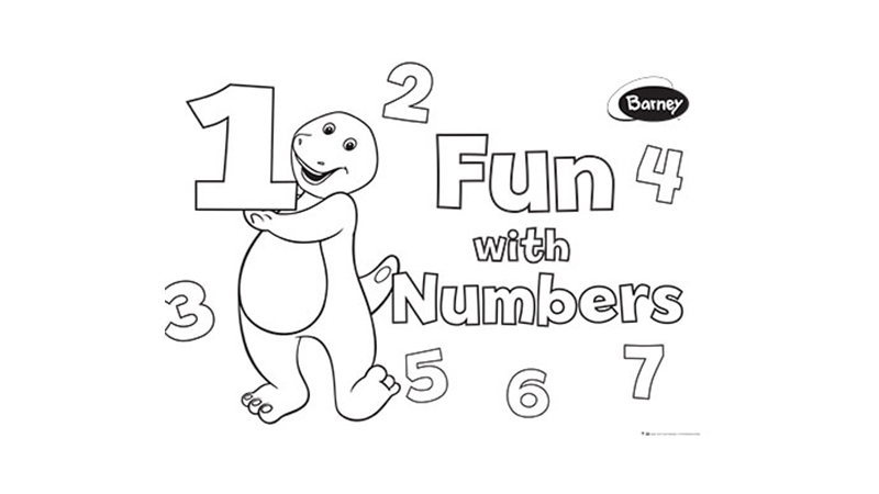 Barney Numbers Activity 1