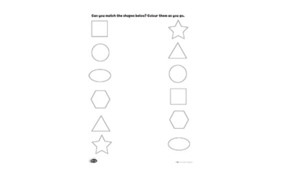 Barney Shapes Activity 2