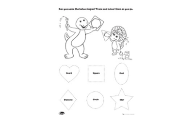 Barney Shapes Activity 3