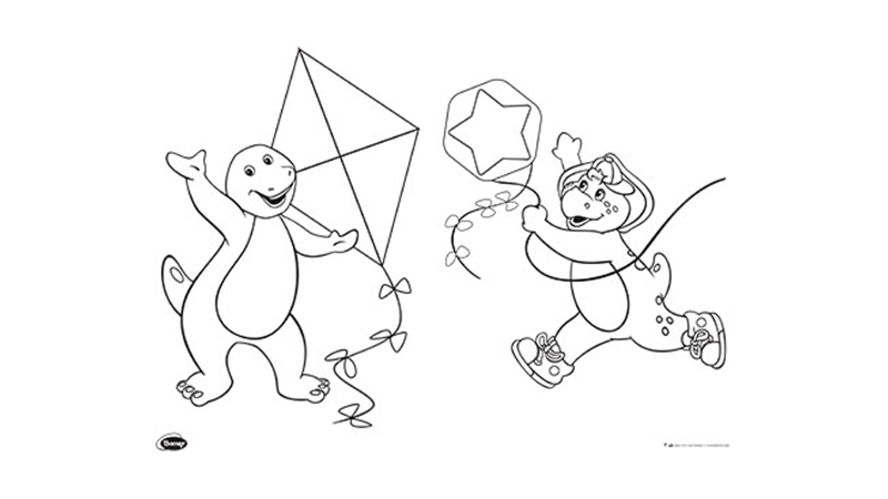 Barney Shapes Activty 4