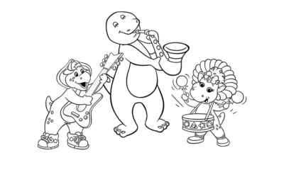 Barney Colouring Page 1