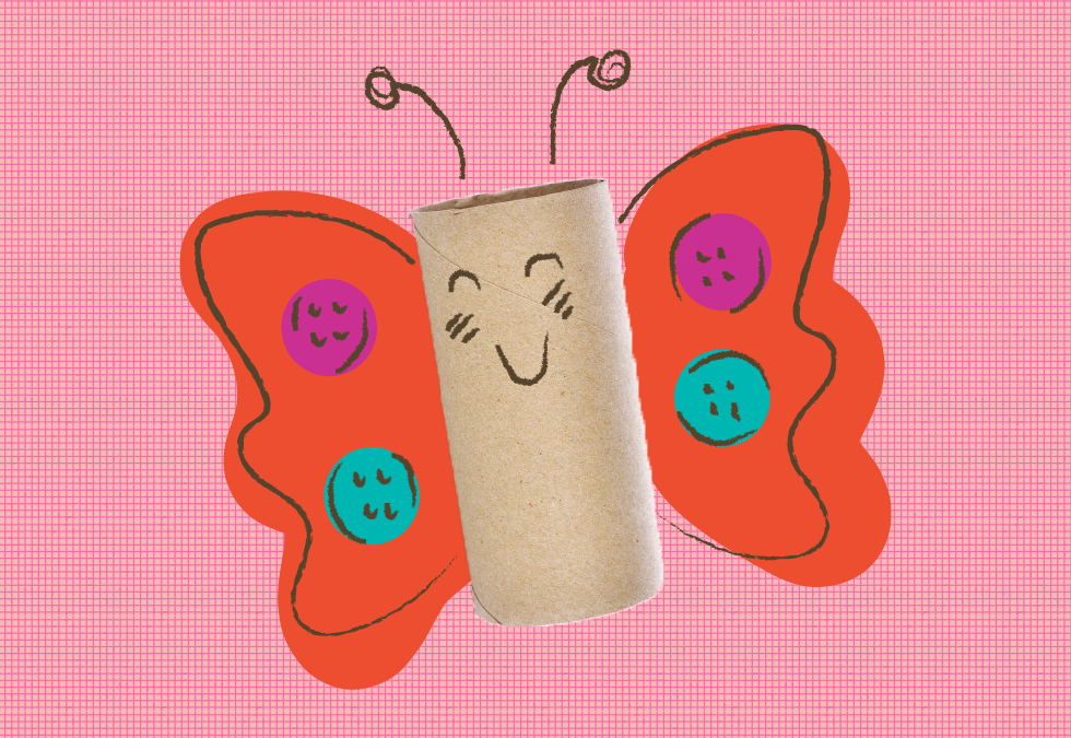 Free Toilet Paper Roll Butterfly DIY
