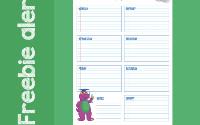 Free Back To School Weekly Planner