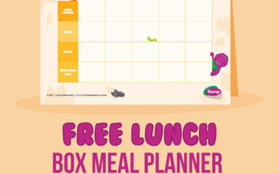 Free Autumn Lunch Box Meal Planner