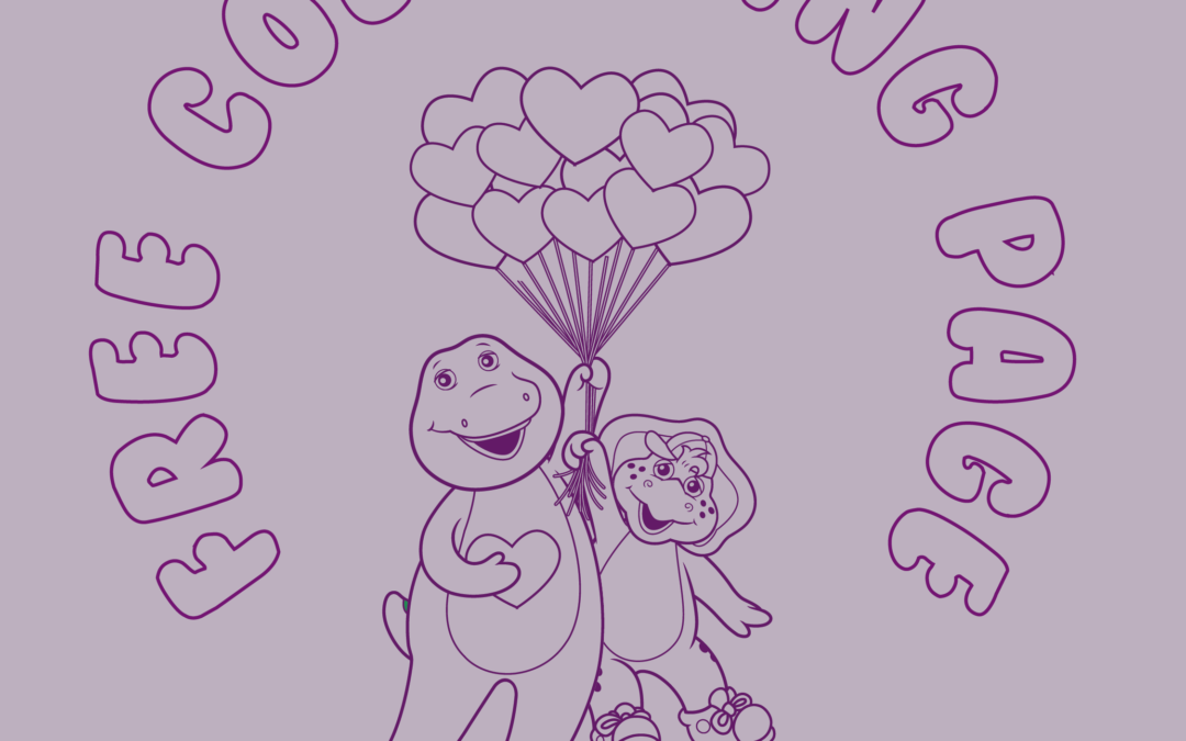Free Valentine's Colouring Page