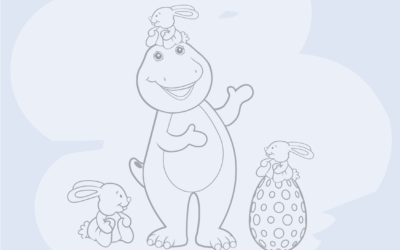 Free April Colouring Page