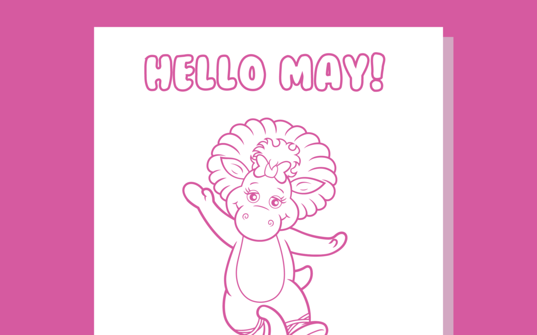 Free May Colouring Page